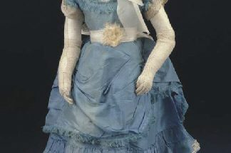 Bisque swivel head doll