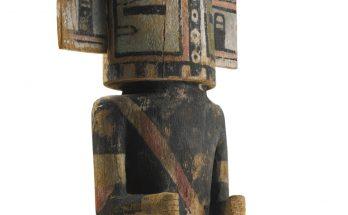 Hopi Polychrome Wood Kachina Doll Depicting Sio Hemis, Arizona