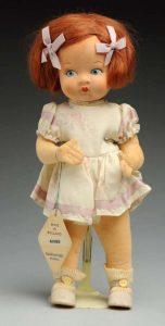 Cloth Pedigree Doll.