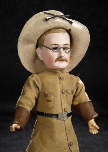 GERMAN BISQUE PORTRAIT OF TEDDY ROOSEVELT