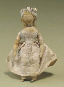 embroidered cloth dolls' house doll