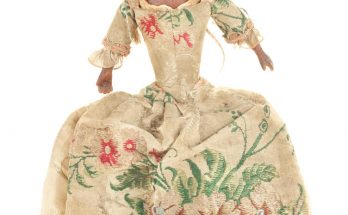 bees wax doll, English mid 18th Century