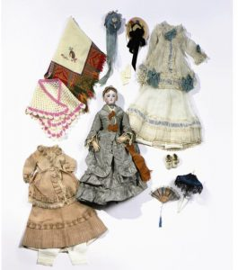 French Bisque and Wood Fashion Doll