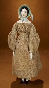 GERMAN PORCELAIN LADY DOLL WITH BROWN HAIR BY KPM China / Parian dolls information