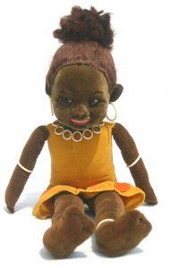 "Nora Wellings (orig label) English cloth ""Island Girl"" doll"